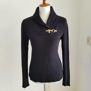 Ralph Lauren Black Label Sweater Gold Hook M